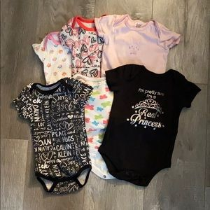 Lot of Six 3-6 Months Onesies